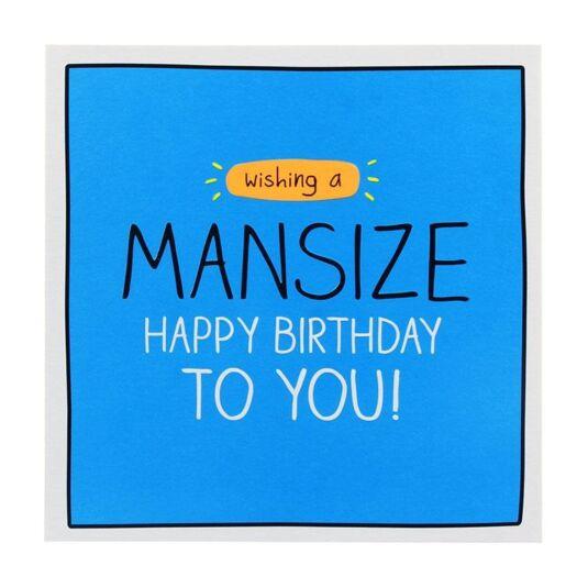'Mansize' Birthday Card