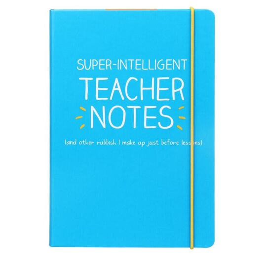 'Super Intelligent Teacher's Notes' A5 Notebook
