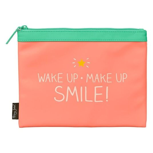 Coral Wake Up Make Up Bag