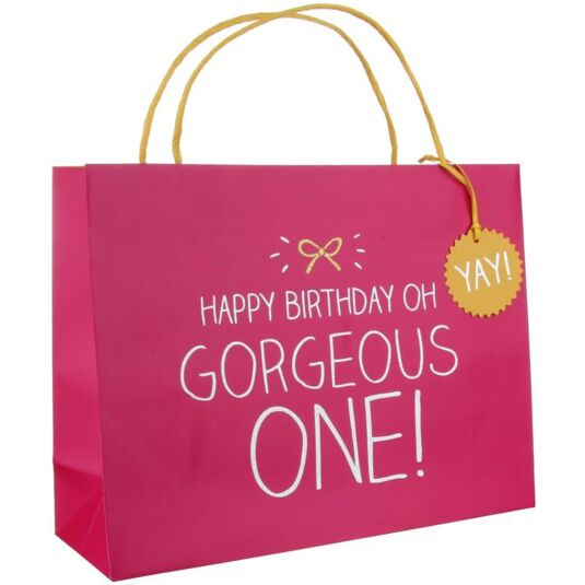 Happy Birthday Gorgeous One! Large Gift Bag