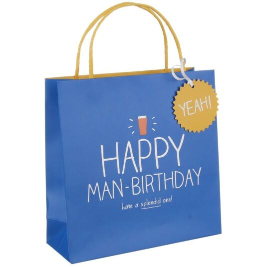 Happy Man-Birthday Medium Gift Bag