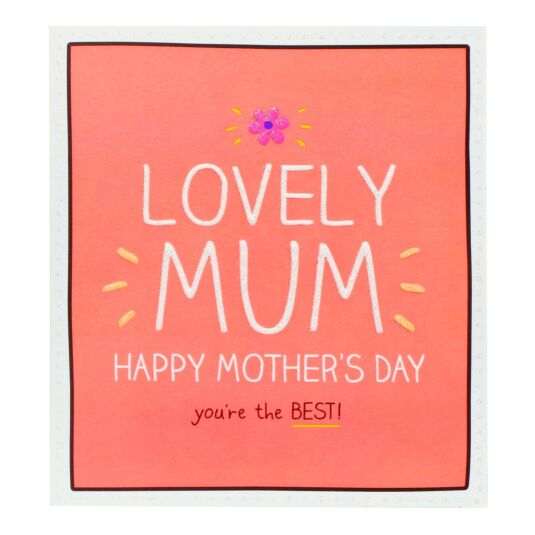 'Lovely Mum You're the Best' Card