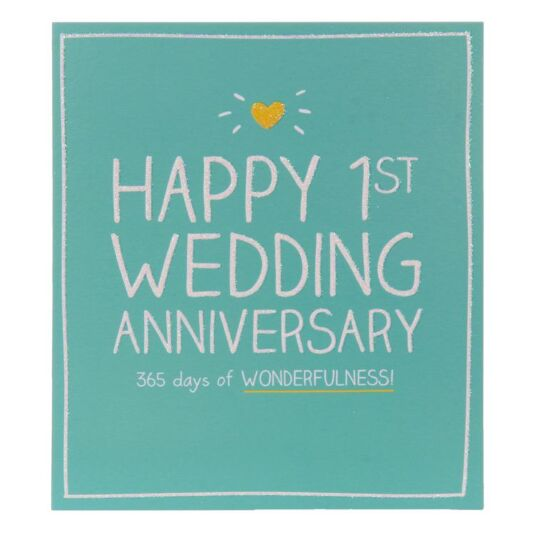 365 Days Of Wonderfulness Anniversary Card