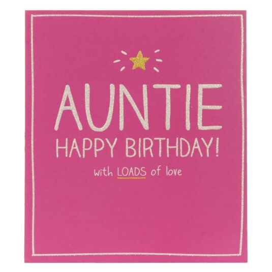 Auntie Happy Birthday Card