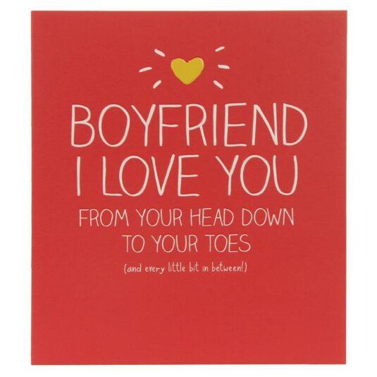 Boyfriend I Love You Birthday Card