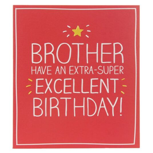 Brother Extra Super Excellent Birthday Card