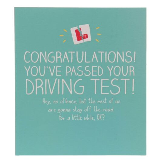 Congratulations! Driving Test Card