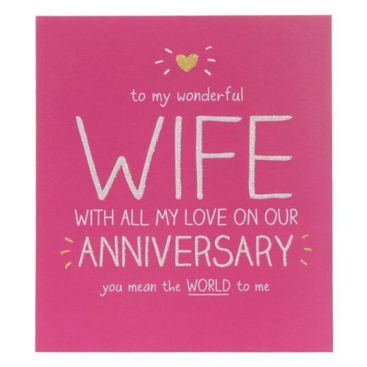Wonderful Wife Anniversary Card