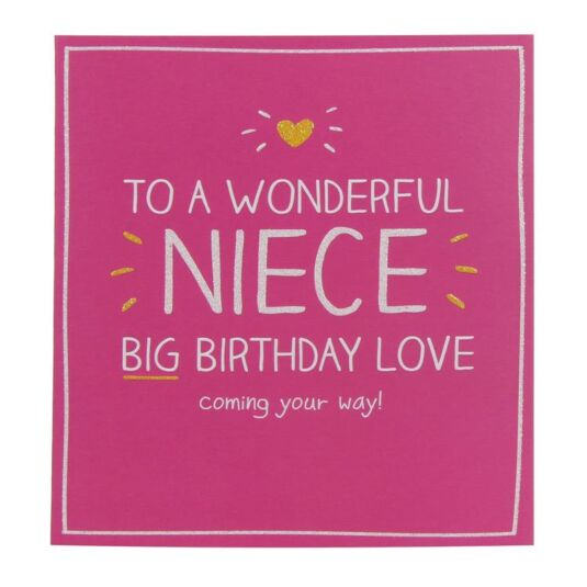 Happy Jackson Wonderful Niece Birthday Card