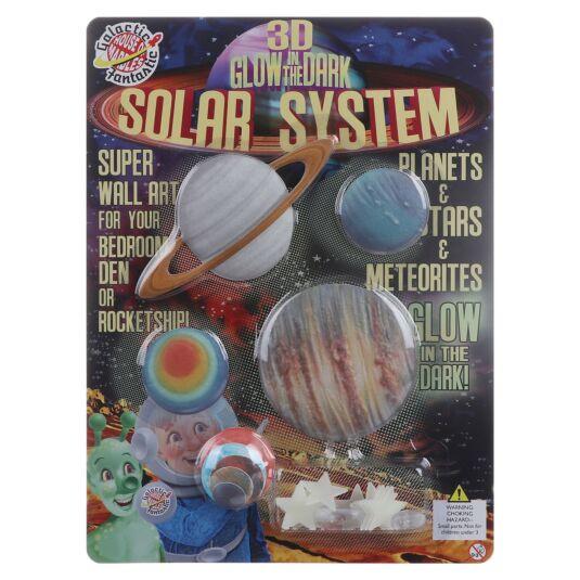 Glow in The Dark Solar System Wall Art
