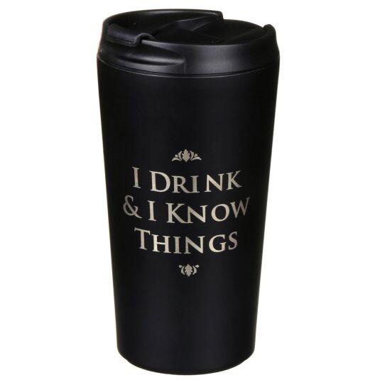 Travel Mug – 'I Drink & I know things'