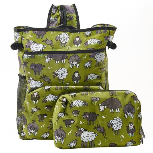 Green Sheep Foldaway Cooler Backpack