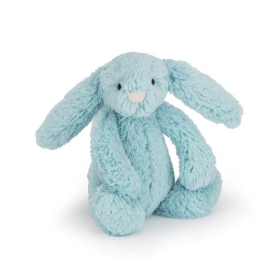 Small Bashful Aqua Bunny