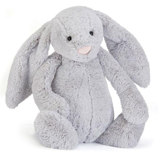 Large Bashful Silver Bunny