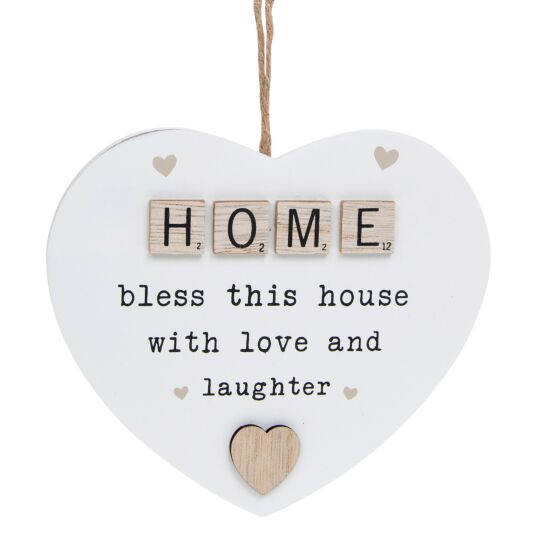 Home Scrabble Sentiment Hanging Heart