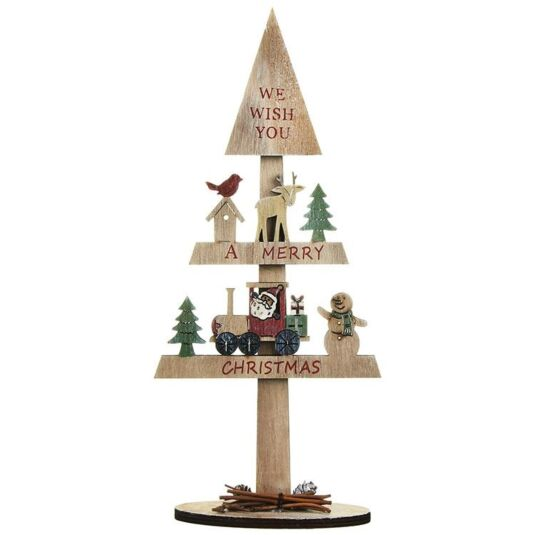 'We Wish You A Merry Christmas' Wooden Tree Decoration