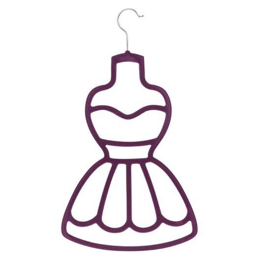 Purple Dress Scarf Holder