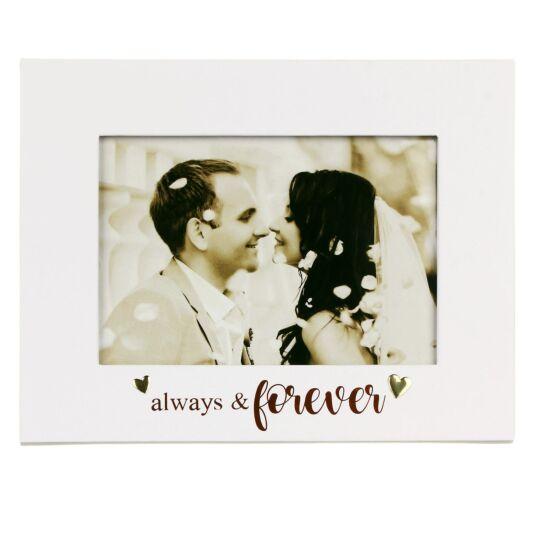 Always & Forever 7x5 inch Wedding Frame