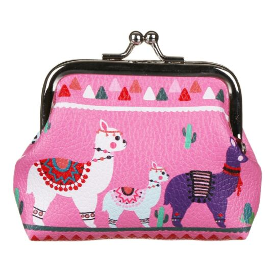 Drama Llama Small Pink Coin Purse