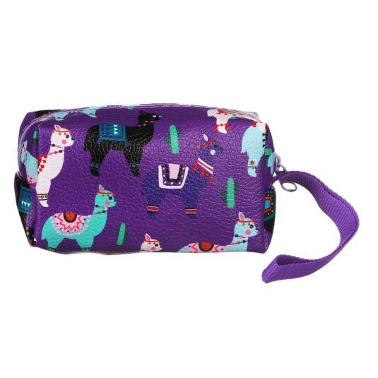 Drama Llama Purple Oblong Make Up Bag