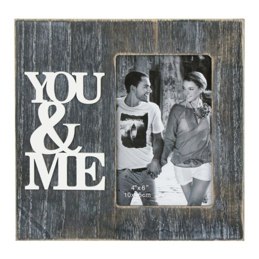 'You & Me' Freestanding Photo Frame 6x4