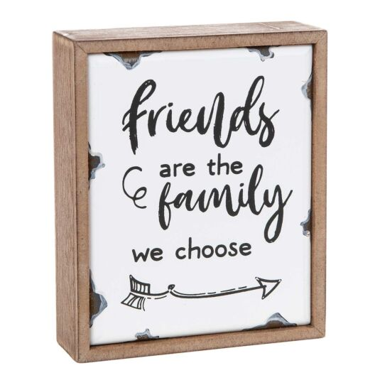 'Family We Choose' Old Enamel Plaque