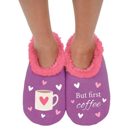 'But First Coffee' Slippers