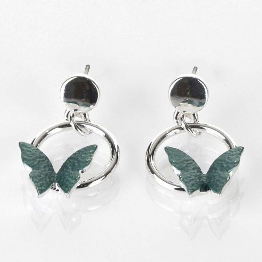 Sage Tones Butterfly Earrings