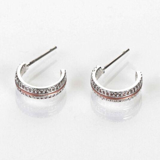 Matte Rose Gold Plated Hoop Earrings