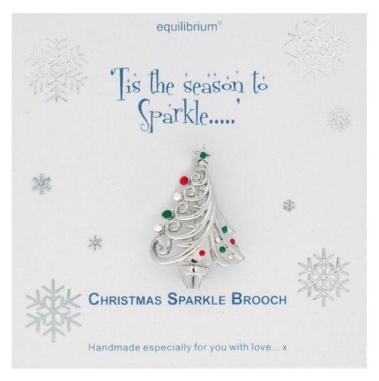 Christmas Sparkle Tree Brooch