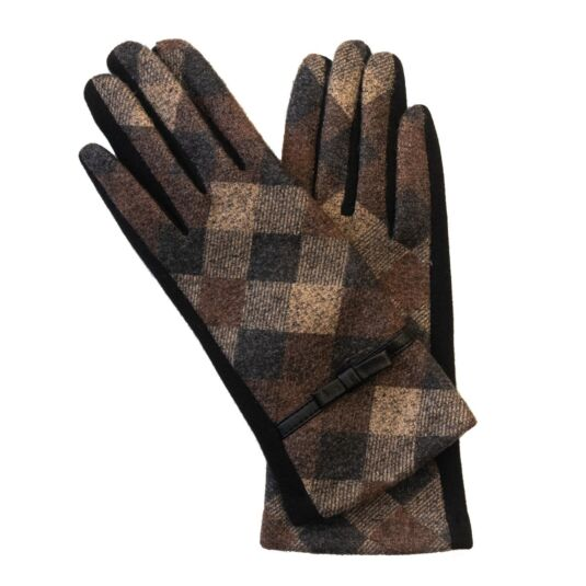 Brown Diamond Boxed Gloves