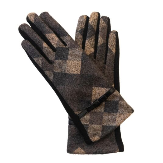 Grey Diamond Boxed Gloves