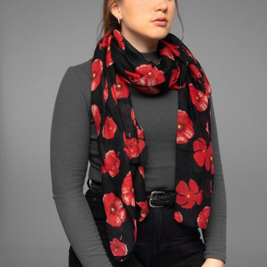 Black Poppy Scarf