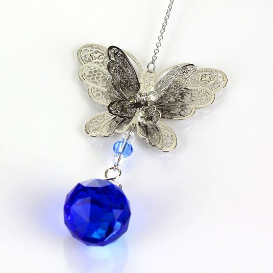 Equilibrium 3D Blue Butterfly Suncatcher