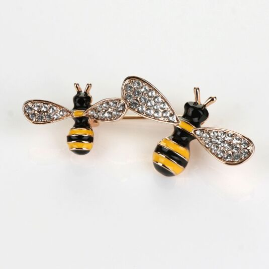 Buzzy Bees Gold Tone Brooch