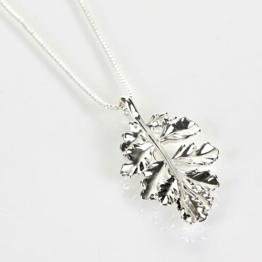 Intricate Leaf Silver Plated Pendant Boxed Necklace