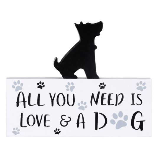 'All You Need Is Love & A Dog' Westie Plaque