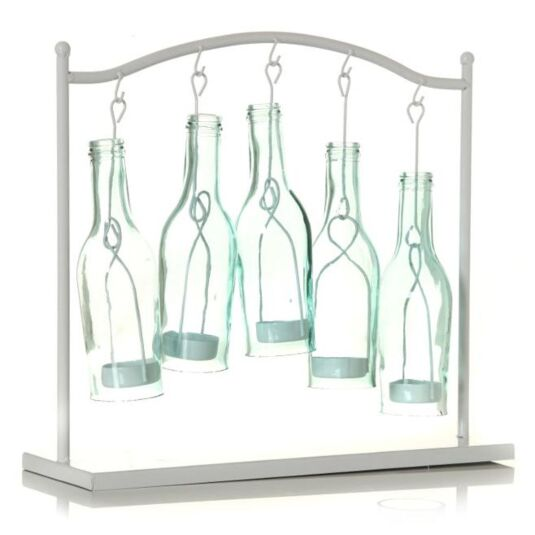 Eau 5 Bottle Candle Holder