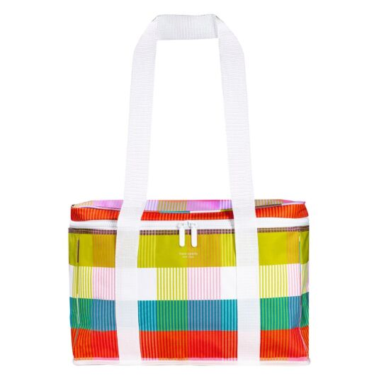 Rainbow Plaid Insulated Cooler