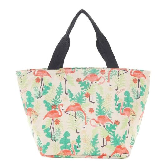 Eco Chic Cream Flamingo Cool Bag