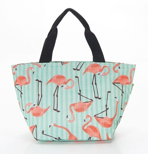 Eco Chic Flamingos Foldaway Cool Bag