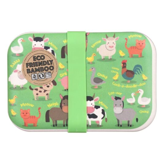 Farmyard Bamboo Lunch Box