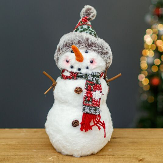 Plush Snowman Christmas Decoration