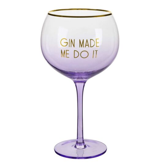 Let's Party 'Gin Made Me Do It' Gin Balloon Glass