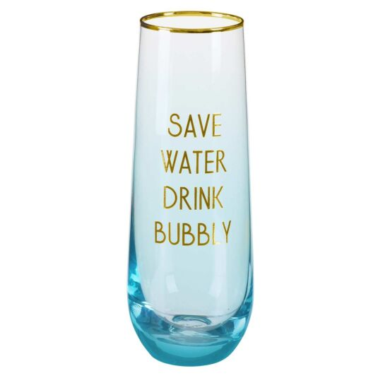 Let's Party 'Save Water Drink Bubbly' Stemless Flute