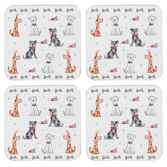Faithful Friend Set Of 4 Dog Coasters