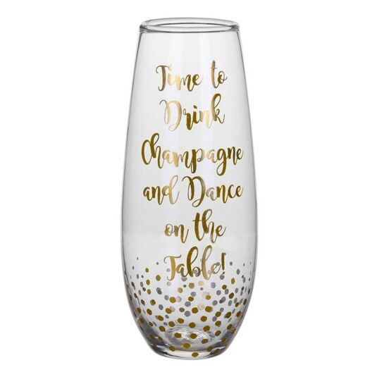 Gold Edition 'Time to Drink' Stemless Champagne Flute