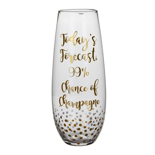 Gold Edition 'Today's Forecast' Stemless Champagne Flute