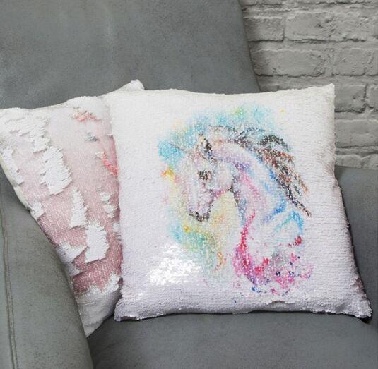 Unicorn Sequin Cushion