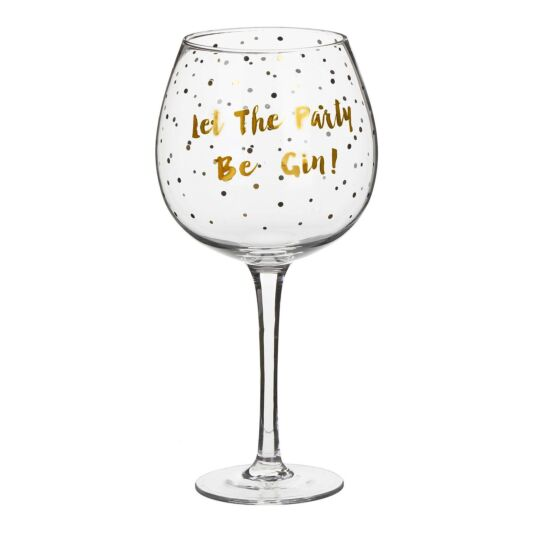 Gold Edition 'Let the Party Be Gin' Gin Balloon Glass